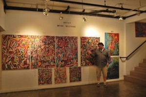 Las Vegas Painter Brian Malpasso at the Arts Factory