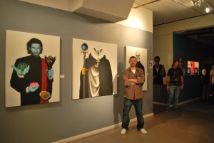 "Carlos De Las Heras showing ""The Planet Earth Award"" series at First Friday Las Vegas."